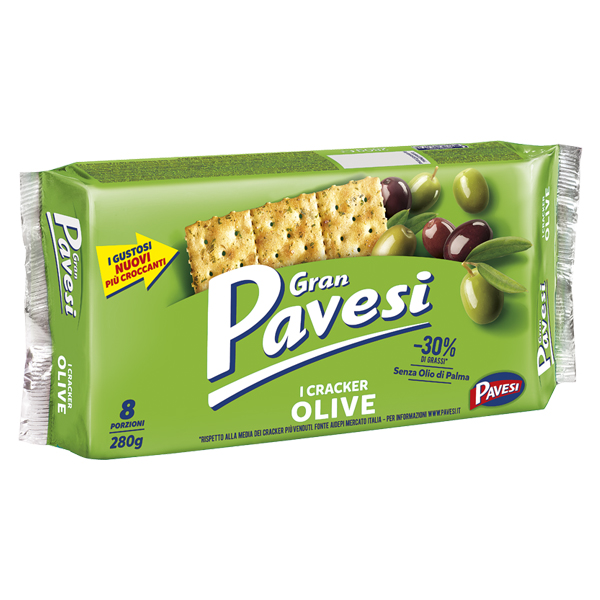 Crackers Olives PAVESI 280